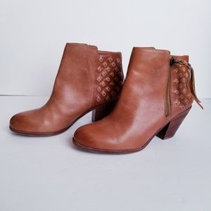 Sam Edelman Lucille Whiskey Leather Booties